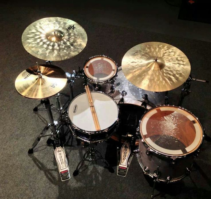 tom, cymbal sizes and placement //;
