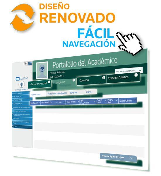 Renovado diseño y mejor usabilidad: lo nuevo de Portafolio Académico. Ver más en http://uchile.cl/u107210