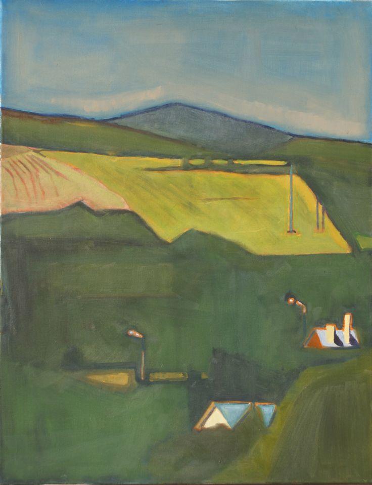 Bieszczady 2, Jan Markiewicz, olej na płótnie, 60 x 80 cm, 2015
