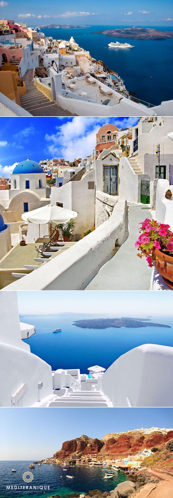 Santorini, Greece. For luxury hotel deals in Santorini book with Mediteranique http://www.mediteranique.com/hotels-greece/santorini/
