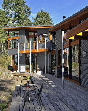 Modern Exterior Photos Cedar And Metal Cladding Design, Pictures, Remodel, Decor and Ideas