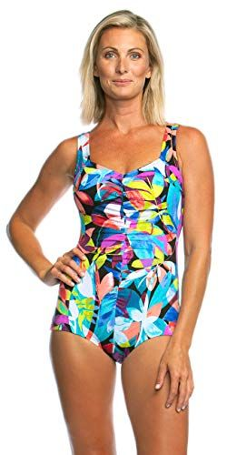 c0e11def1bdfb Maxine Of Hollywood Women s Shirred Front Girl Leg One Piece Swimsuit