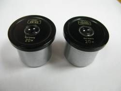 Microscope Parts for sale at bmisurplus.com SKU# 56743 - Zeiss Eyepieces 20X Tube Diameter 30mm Pair