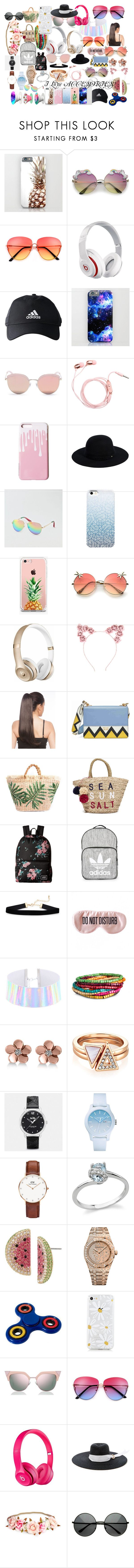 """""""ACCSESORIES"""" by andieok on Polyvore featuring Beats by Dr. Dre, adidas, Stephane + Christian, Siggi, American Eagle Outfitters, The Casery, Hot Topic, Prada, Sundry and Vans"""