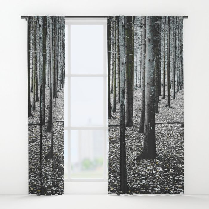 Coma forest Window Curtains