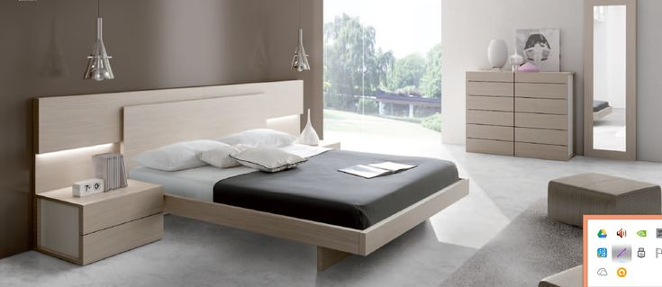 mobiliario de dormitorio conjunto cama en madera decap y