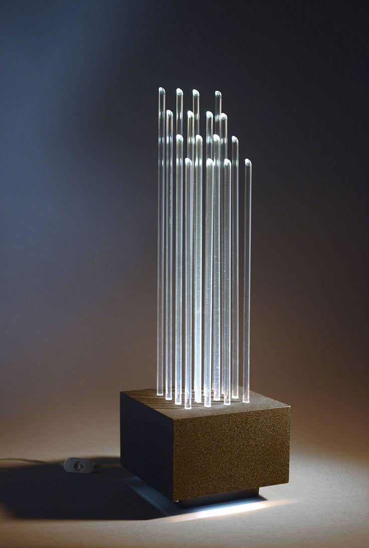 Gianfranco Fini and Fabrizzio Cocchia; Plexiglass Table Lamp for New Lamp, c1970.