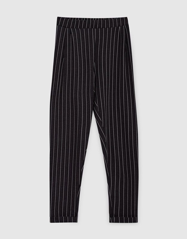 Pinstripe trousers - Trousers - Clothing - Woman - PULL&BEAR Israel