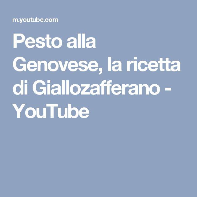 Pesto alla Genovese, la ricetta di Giallozafferano - YouTube