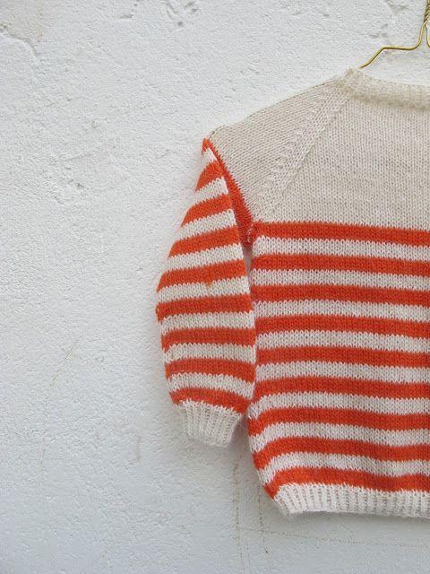 Strikkefeber: Sommer stripete genser