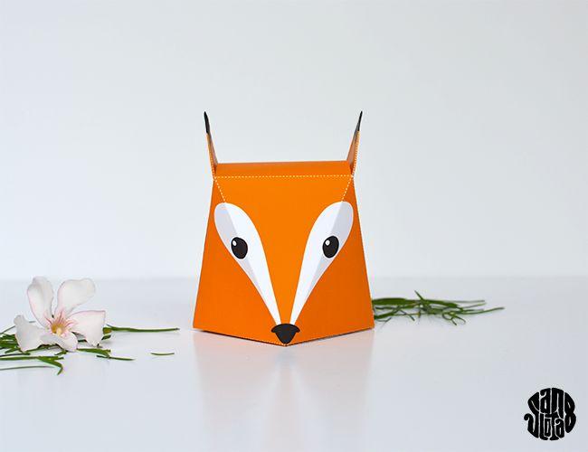 The Fox Box (free printable) - Sanglota.com
