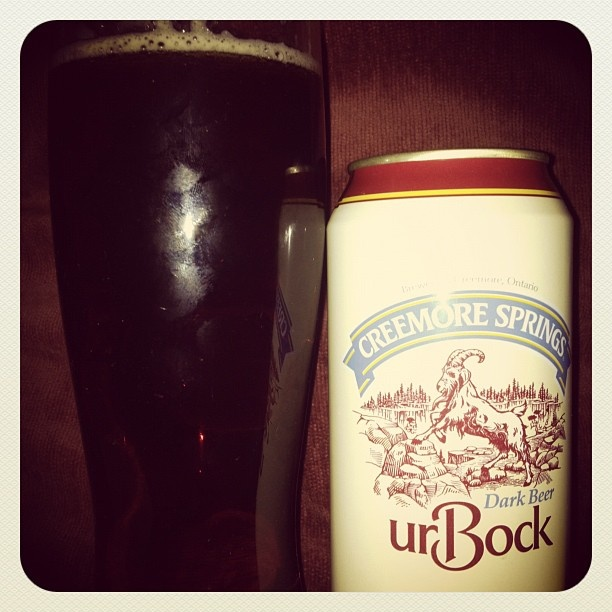 Creemore Springs urBock #beer, finally available. One of my favorite times of the year. (Taken with instagram)