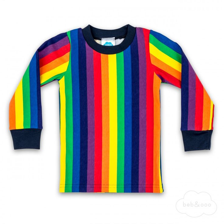 Rainbow Stripe Long Sleeve Shirt by Beb & Ooo available exclusively at Modern Rascals in North America