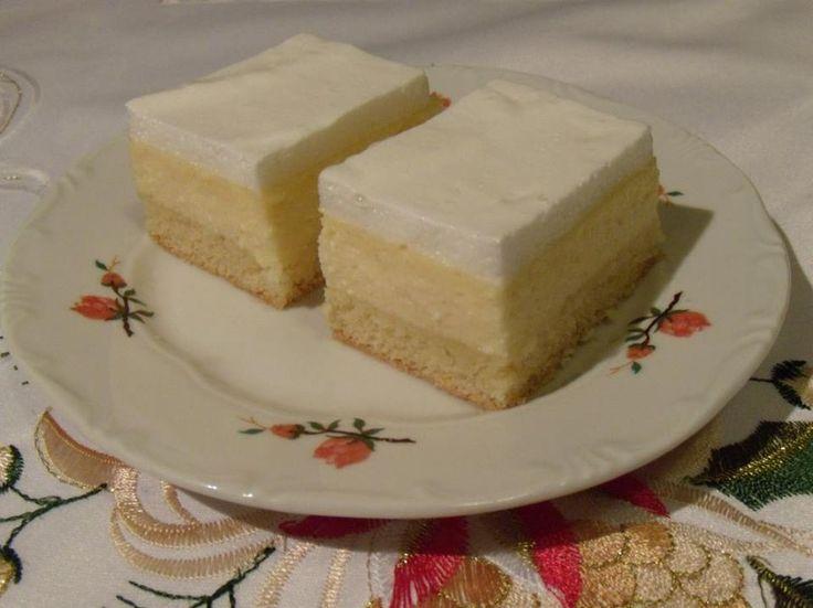Ez aztán a habréteg, nagyon szépséges! :) Meg persze finomságos! :) Amúgynagyon hasonlít az íze a Rákóczi túrós süteményhez! Hozzávalók Tészta: 25 dkg liszt, 15 dkg margarin, 10 dkg porcukor, 1 tojás, 1/2 sütőpor, 2 ek. tejföl. Ö...
