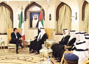 """Il premier negli Emirati Arabi, visita lampo al principe ereditario: """"Avanti con la nuova sfida di Alitalia-Etihad"""""""
