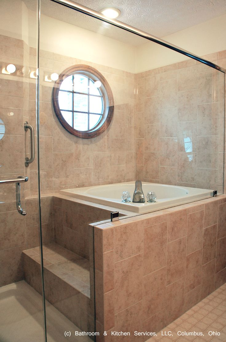 Japanese style shower and soaking tub. Japanese bathroom