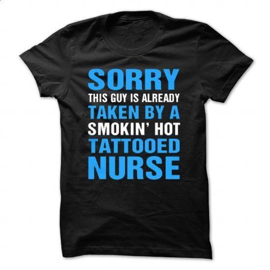 Taken By Tattooed Nurse - #retro t shirts #mens dress shirt. CHECK PRICE => https://www.sunfrog.com/LifeStyle/Taken-By-Tattooed-Nurse-Black-28644571-Guys.html?60505