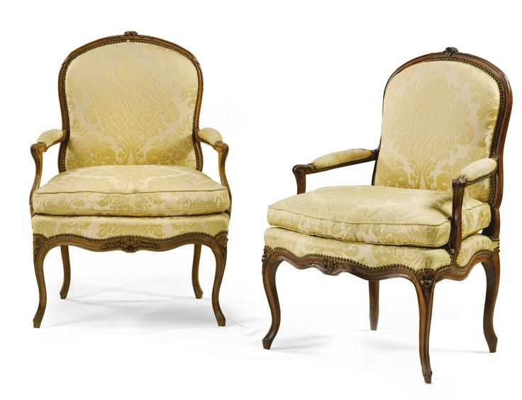 A near pair of carved beech armchairs one stamped p remy louis xv circa 1750 antieke - Chair antieke ...