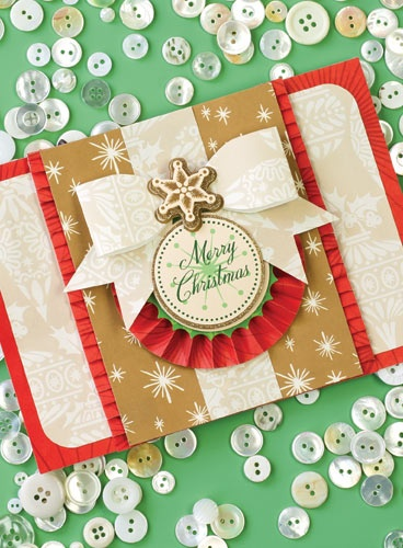 Send handmade Christmas cards this year, starting with supplies from Anna Griffin's Christmas card kit.