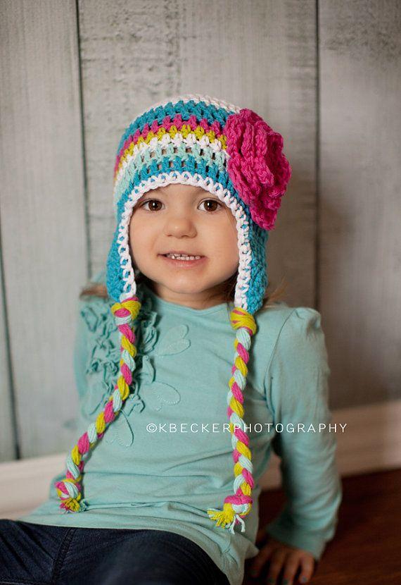 girls hat crochet girls hat baby hat little by VioletandSassafras