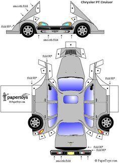 Chrysler PT Cruiser - Free paper Toys at PaperToys.com