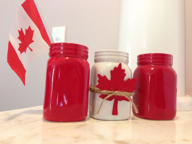 Canada Day jar design by Katherine Low