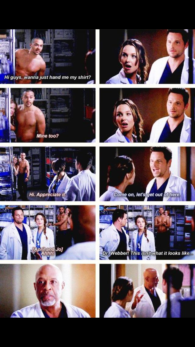 Webber is 110% done with all the horny doctors in the hospital