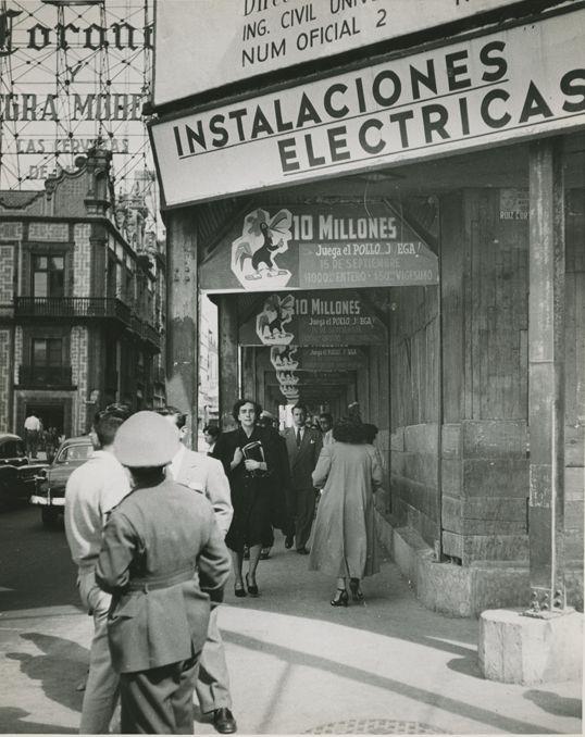 En la decada de los 1950s. se podia apreciar esta imagen en la actual Cd. de Mexico.