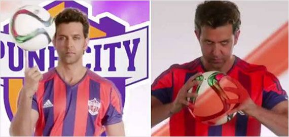 FC Pune City - Teaser Out! Watch Hrithik showing football skills for FC Pune City