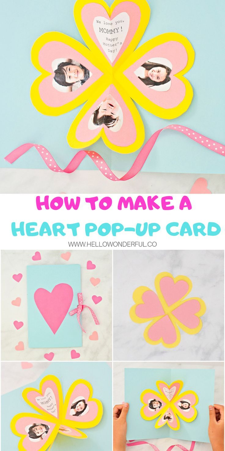 Get The Free Template To Make This Easy Heart Pop Up Card Heart Pop Up Card Pop Up Card Templates Printables Free Kids