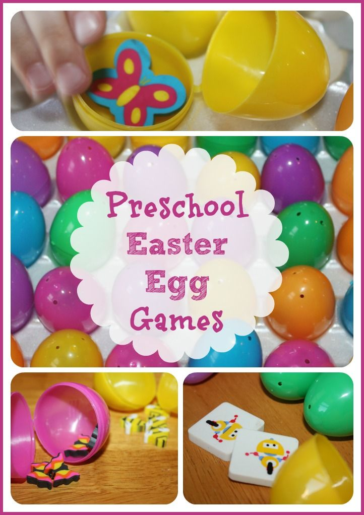 Easter Egg Games (from Little Bins for Little Hands)