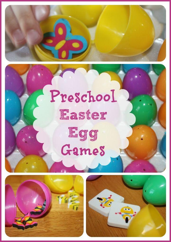 Easter Egg Games (from Little Bins for Little Hands)
