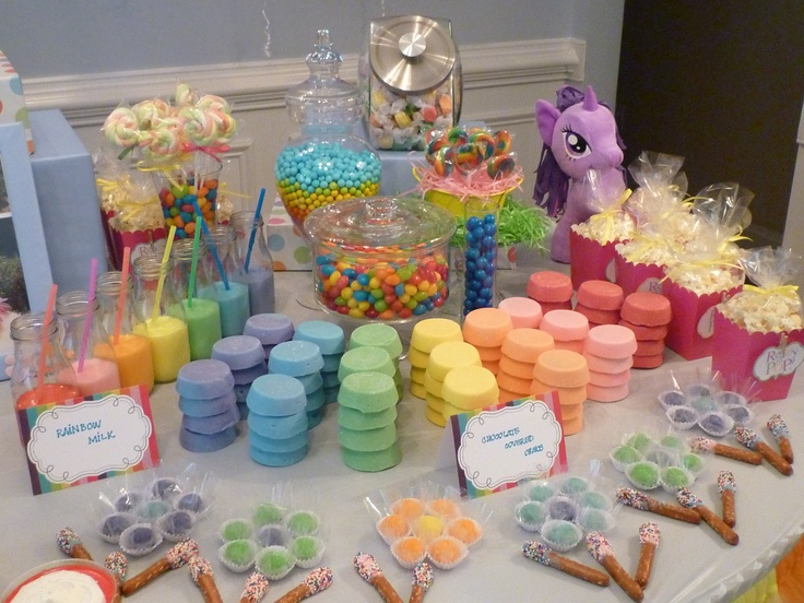 My Little Pony Party: Crazy, insane, awesome sweets table.