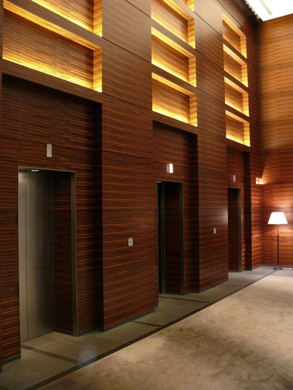 Feature Wall Lighting is the light that comes out from the wall, located in the Four Seasons Hotel Tokyo at Marunouchi.