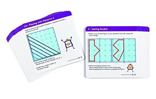 Geo George Activity Cards are designed to challenge students in learning symmetry, reflection and regular and irregular shapes #edxeducation #handson #learningisfun #mathmanipulatives