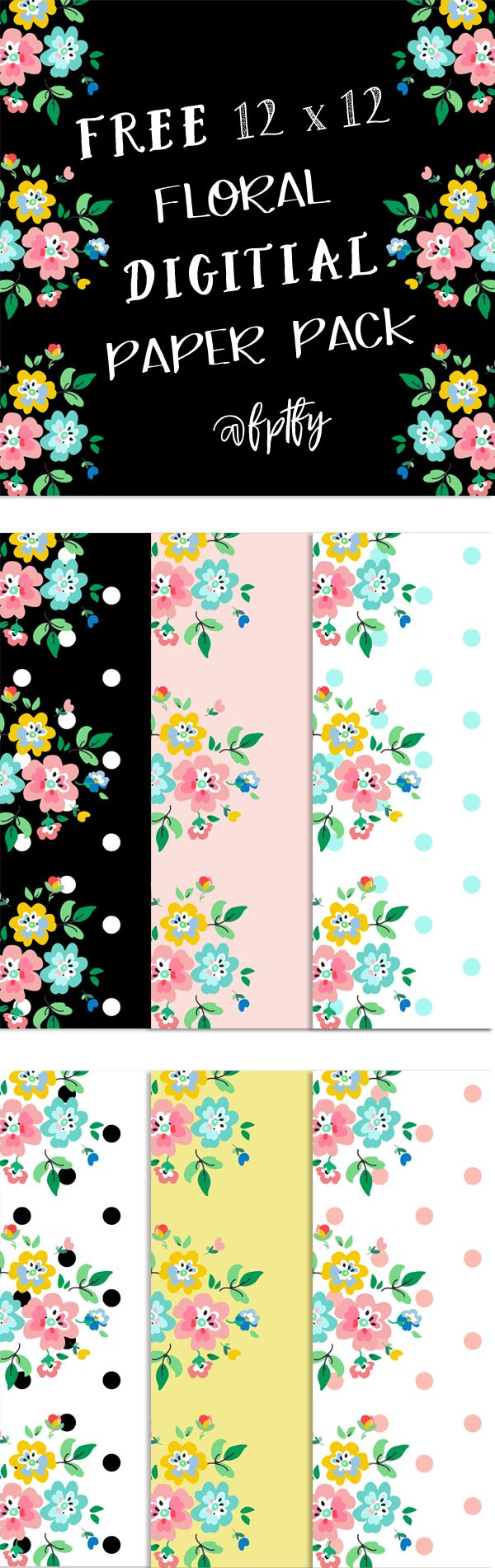 Scrapbooking Paper: Floral Delight! - Free Pretty Things For You