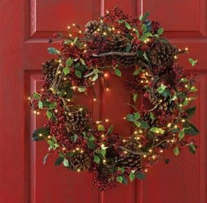 Led Christmas Wreaths Battery Operated