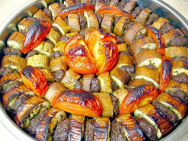 Kebab with eggplant