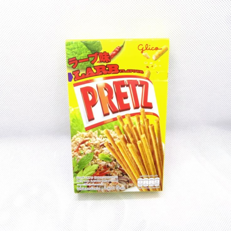 1 Psc Glico Pocky Bread Biscuit Sticks Thai Food Snack Larb Flavors 38G