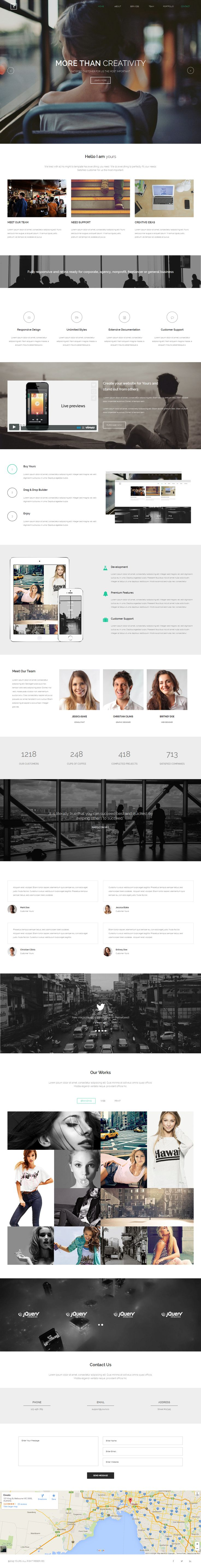 Yours is a Multipurpose Parallax scrolling One Page Template. To edit this template with #Adobe #Muse is very easy. You can change colors, texts or replace the images in a few minutes. Drag & Drop Content.