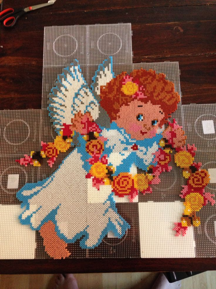 Angel Christmas hama perler beads by Dorte Marker