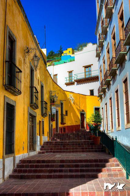 Guanajuato Mexico. Everywhere there are stairs in Guanajuato.