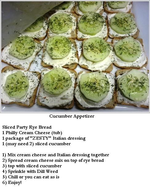 Delicious Cucumber Appetizer Recipes Pinterest