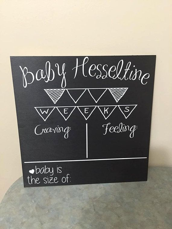 Weekly Pregnancy Tracker by TheCraftShackbyDanyJ on Etsy