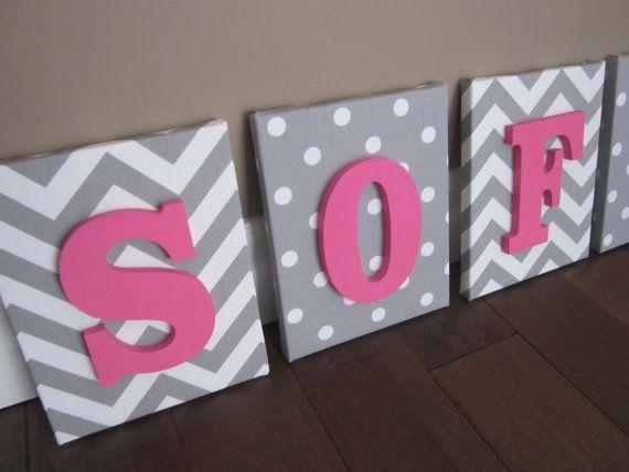 Wand Leinwand Buchstaben Kinderzimmer Decor von NurseryShoppe