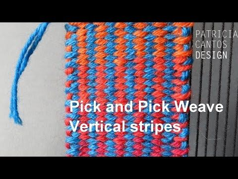 Weaving triangles - Weaving lessons for beginners - YouTube
