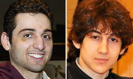 Boston bombing suspects--Boston Marathon bombing April  15, 2013. They were brothers the one on the left was killed by police..