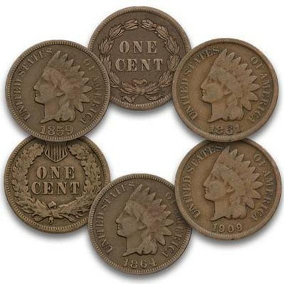 10 Random Indian Head Penny 1859 1909 Etsy Https Www Etsy Com Listing 689499453 10 Random Indian Head Penny 1859 1909 Coins For Sale Coins Indian Head