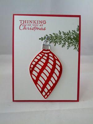 手机壳定制air max   cheap free shipping Stylin   Stampin   INKspiration Embellished Ornaments Red Foil Lovely As a Tree