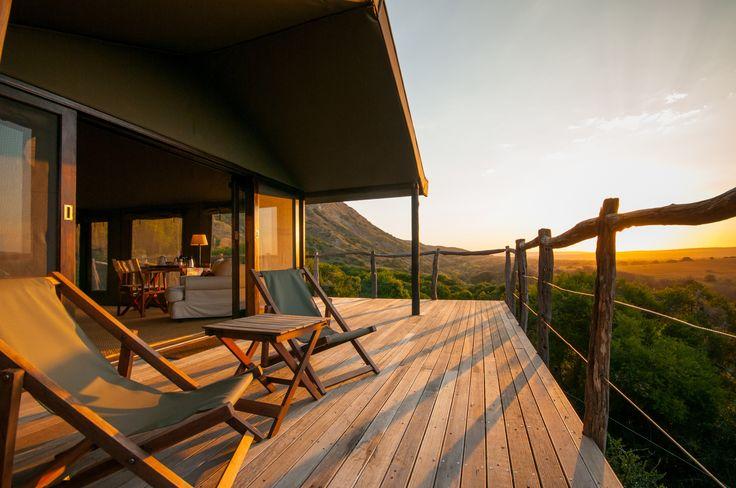 Amazing view from the terrace of the Safari Tents at HillsNek Safari Camp